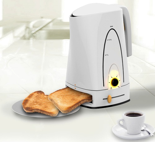 breakfast made easy invention combines kettle and. Black Bedroom Furniture Sets. Home Design Ideas