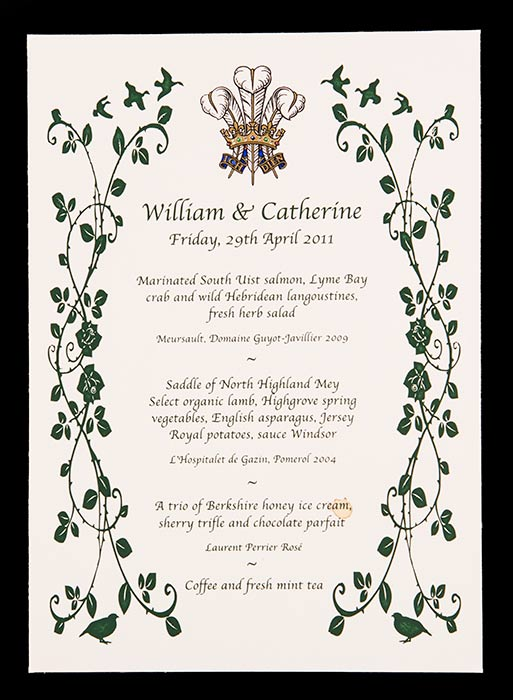 Beef Or Salmon? William And Kate's Wedding Dinner Has Been ...