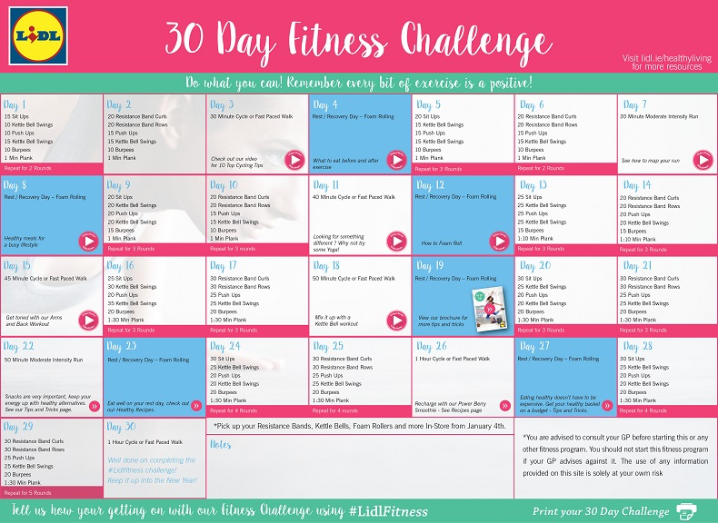 30 Day Fitness Challenge: A Guide To Getting Fitter And Healthier This ...