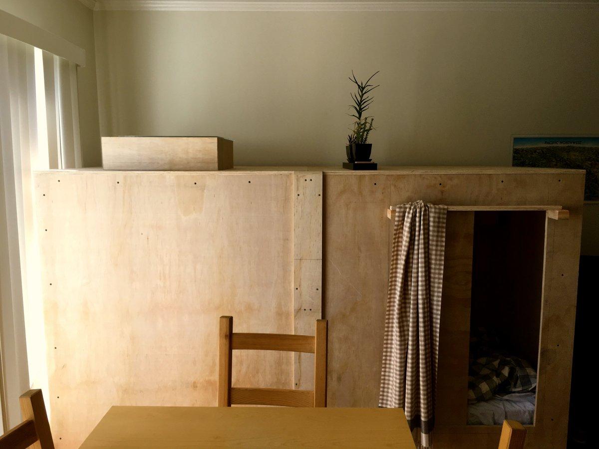 PICS This Man Built A Bedroom Pod In His Friends Living Room Beca