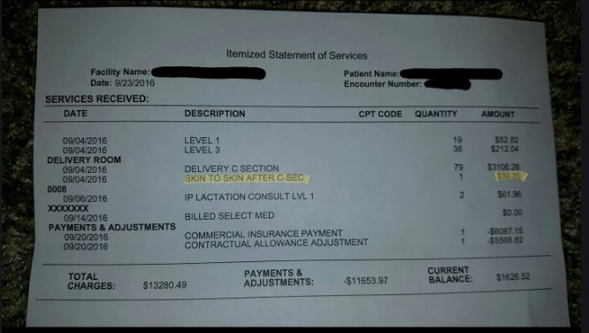 Father says he was charged $39.35 to hold his newborn son