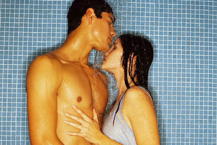 4. Hit the shower: Try this – instead of hitting the shower together after sex, step into it beforehand. Get sudsy and wash your man's chest and back, and have him return the favour. There's nothing more intimate than showering with your other half. When you're both squeaky clean, dry off and get dirty in the bedroom. If you like, shower again afterwards.