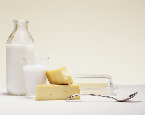 Dairy You do need calcium in your diet (an easy way to get it is from dairy products like milk and cheese), but for the lactose intolerant, dairy can cause diarrhoea, gas and abdominal bloating and cramps.