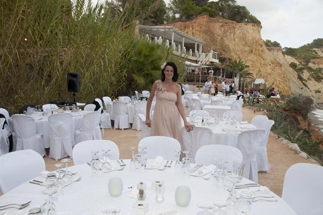 Sharon McMeel at an Ibiza Wedding