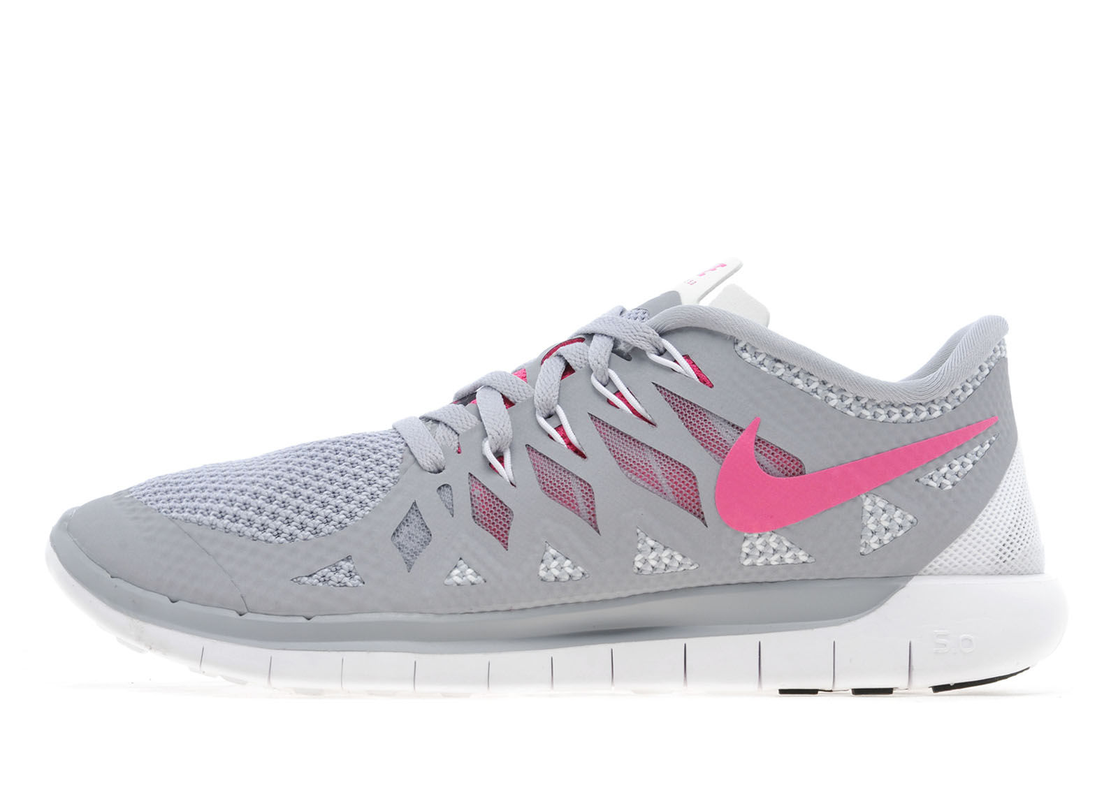 save off d7992 8128e WOMENS Nike Free 5.0 GreyVivid PinkWhite 1