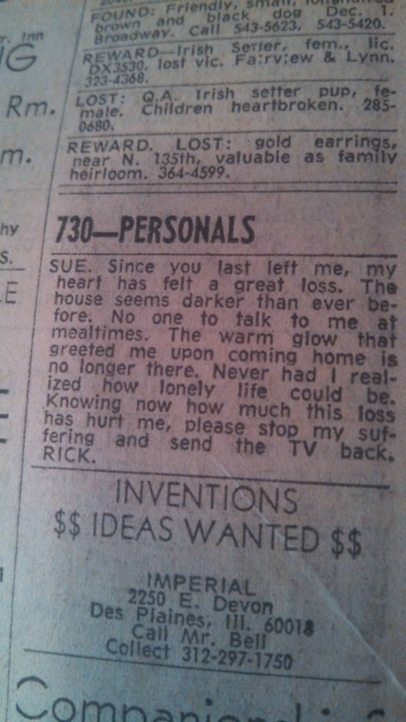 Great personal ads