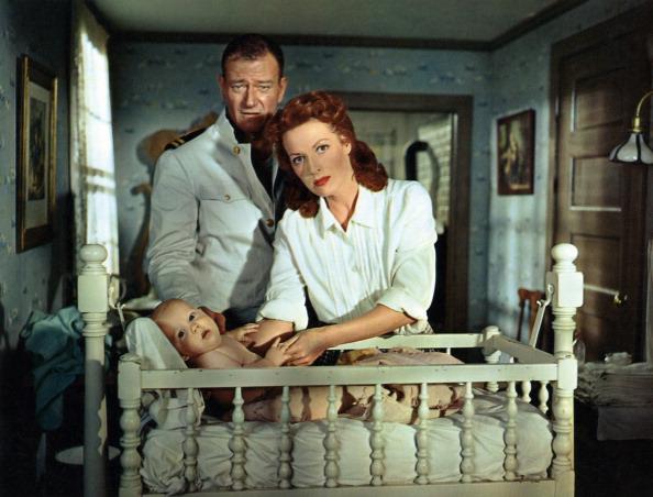 John Wayne and Maureen O'Hara in The Wing of Eagles