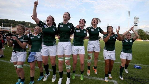 Ireland players celebrate 5/8/2014