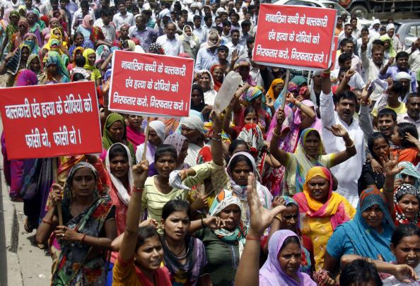 Protest Against Crime In Gurgaon