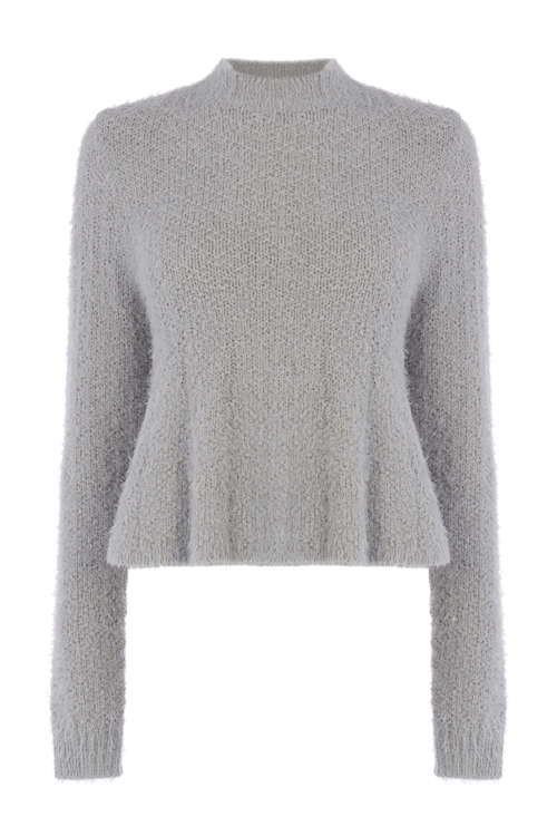 CATHERINE KELLY DYF FOR OASIS_GREY CROP JUMPER 56EUR