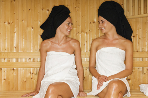 two women spa