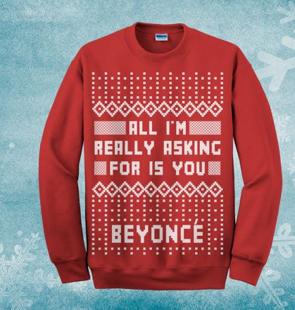 Calling All Beyoncé Fans: This Christmas Jumper is A MUST For Your ...