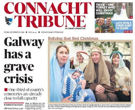 the connacht tribune front cover