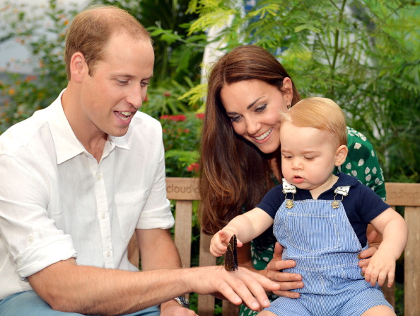Charles plays doting grandad in rare photo with Prince Louis and Catherine