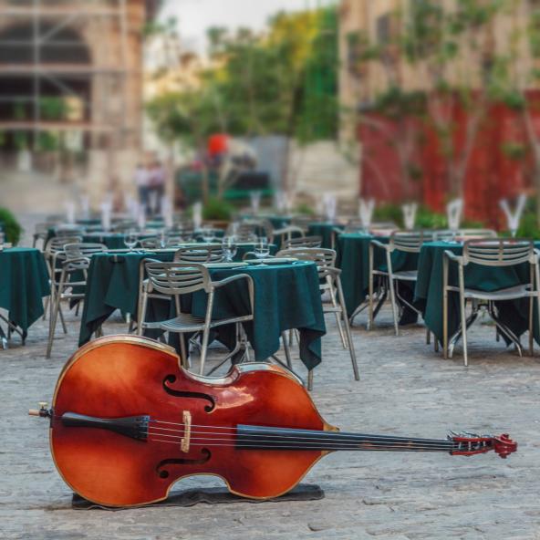 Street musician in Cuba.