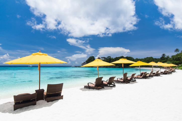 Tropical resort view