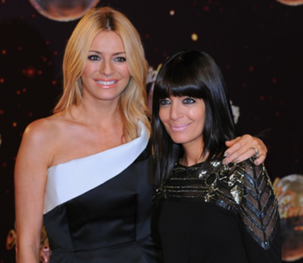"BOREHAMWOOD, ENGLAND - SEPTEMBER 02:  Tess Daly and Claudia Winkleman attend the red carpet launch for ""Strictly Come Dancing"" 2014 at Elstree Studios on September 2, 2014 in Borehamwood, England.  (Photo by Eamonn M. McCormack/Getty Images)"
