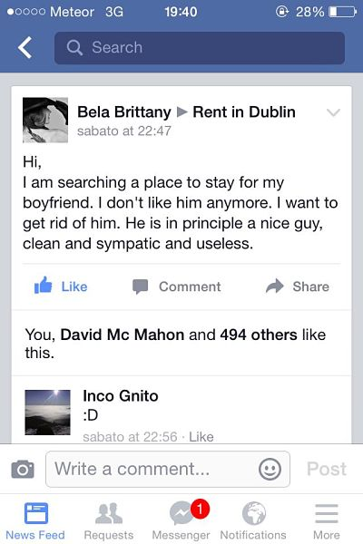 Girl Dumps Her Boyfriend With this VERY Harsh Facebook Post | Her ie
