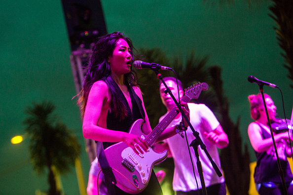Charlene Kaye of San Fermin performs  Hangout Music Festival
