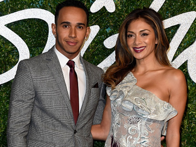 LONDON, ENGLAND - DECEMBER 01:  Lewis Hamilton and Nicole Scherzinger attend the British Fashion Awards at London Coliseum on December 1, 2014 in London, England.  (Photo by Pascal Le Segretain/Getty Images)