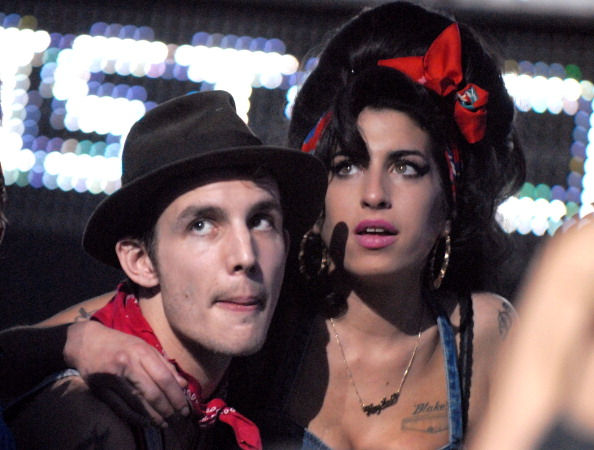 Blake Fielder-Civil and singer Amy Winehouse in the audience during the 2007 MTV Europe Music Awards held at the Olympiahalle on November 1, 2007 in Munich, Germany. (Photo by Jeff Kravitz/FilmMagic)