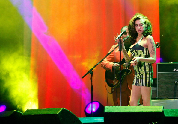 Amy Winehouse performs live at Kalemegdan Park on June 18, 2011 in Belgrade, Serbia. This was the singer's last live concert performance before her death on July 23, 2011.