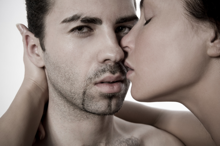 Closeup of a sexual young couple