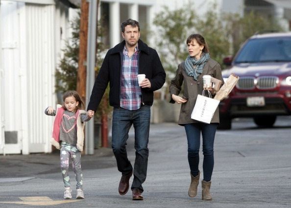 LOS ANGELES, CA - FEBRUARY 06: Ben Affleck and Jennifer Garner are seen with their daughter, Seraphina Affleck on February 06, 2014 in Los Angeles, California.  (Photo by GONZALO/Bauer-Griffin/GC Images)