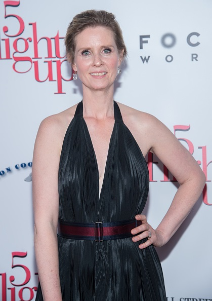 """NEW YORK, NY - APRIL 30:  Actress Cynthia Nixon attends the """"5 Flights Up"""" New York Premiere at BAM Rose Cinemas on April 30, 2015 in New York City.  (Photo by Mark Sagliocco/FilmMagic)"""