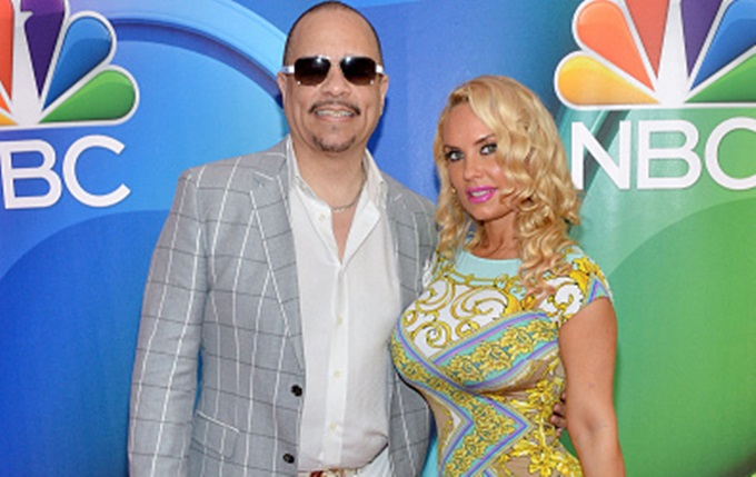 NEW YORK, NY - MAY 11:  Ice-T and Coco Austin attendThe 2015 NBC Upfront Presentation at Radio City Music Hall on May 11, 2015 in New York City.  (Photo by Slaven Vlasic/Getty Images)