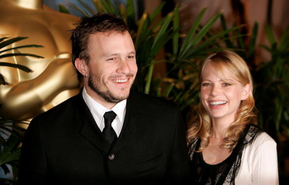 BEVERLY HILLS, CA - FEBRUARY 13:  Actor Heath Ledger and actress Michelle Williams arrive at the Oscar Nominees Luncheon at the Beverly Hilton Hotel on February 13, 2006 in Beverly Hills, California.  (Photo by Kevin Winter/Getty Images)
