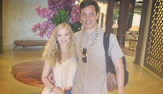 Dreama Walker and her spouse Christopher McMahon were married in Huwaii,her