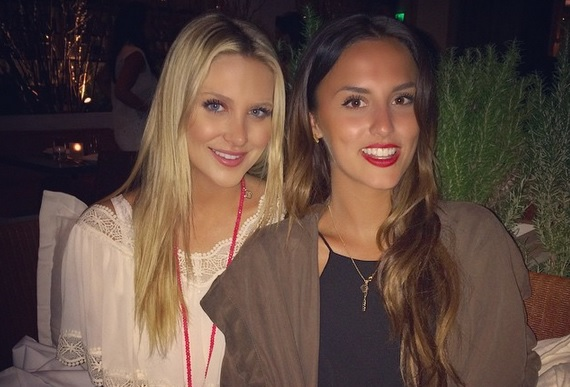 Photo of Stephanie Pratt  & her friend Lucy