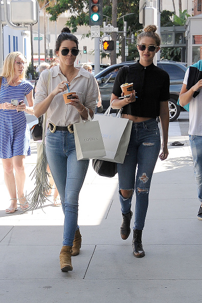 LOS ANGELES, CA - JULY 31: Kendall Jenner and Gigi Hadid are seen out and about on July 31, 2015 in Los Angeles, CA. (Photo By Michael King/BuzzFoto.com) Buzz Foto LLC  http://www.buzzfoto.com  1112 Montana Ave suite 80  Santa Monica CA 90403  1 310 441 4464 1 310 691 3888