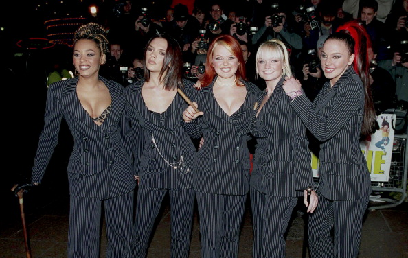 LONDON, UNITED KINGDOM  -  DECEMBER  12,  The Spice Girls attend the Premiere of Spiceworld on December 15  1997, in London,United Kingdom.  (Photo by UK Press via Getty Images)