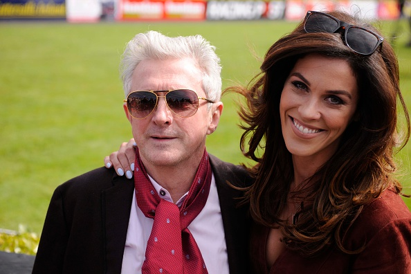 NAAS, IRELAND - MAY 01:  Louis Walsh and Glenda Gilson at Punchestown Racecourse on May 1, 2015 in Naas, Ireland.  (Photo by Clodagh Kilcoyne/Getty Images)
