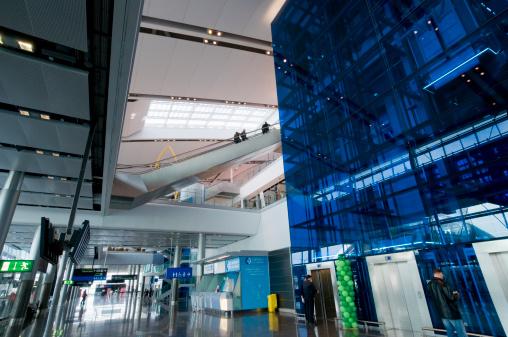 Interior of the Dublin Airport.