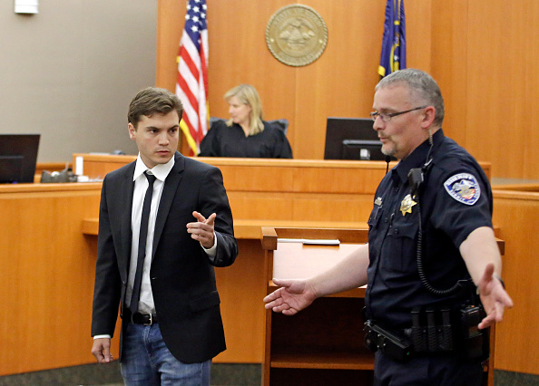 PARK CITY, UT - AUGUST 17:  Actor Emile Hirsch is taken in to custody after appearing in court August 17, 2015, in Park City, Utah.  Hirsch made a plea deal for misdemeanor assault and has been ordered to serve 15 days in jail, pay a USD 4,750 fine and perform 50 hours of community service.  If he completes the all the requirements associated of the sentence the charge will be dismissed.  Hirsch is charged with felony aggravated assault and intoxication after allegedly putting a studio executive, Daniele Bernfeld, in a chokehold at a nightclub during the Sundance Film Festival January 25 in Park City.  (Photo by Rick Bowmer-Pool/Getty Images)