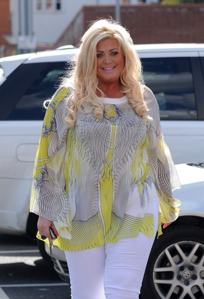 LONDON, UNITED KINGDOM - JUNE 05: Gemma collins pictured arriving at her shop in Essex on June 5, 2014 in London, England. (Photo by SAV/GC Images)
