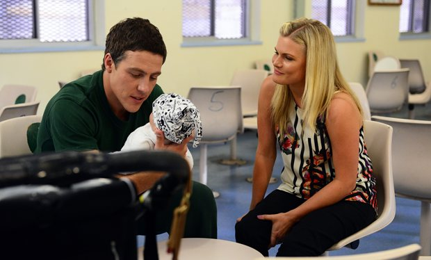 Home And Away Brax Finally Meets Baby Casey While Alf Becomes Agitated During His First Therapy Sessions