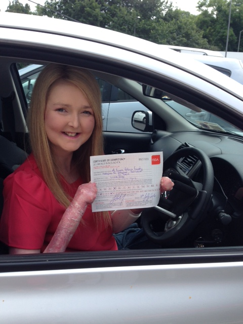 Emma Fogarty driving licence