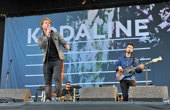 CHELMSFORD, ENGLAND - AUGUST 23: Steve Garrigan, Vinny May and Jason Boland of Kodaline perform on stage during Day 2 of the V Festival at Hylands Park on August 23, 2015 in Chelmsford, England. (Photo by C Brandon/Redferns)