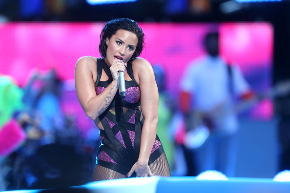 performs on the Pepsi Stage, during the 2015 MTV Video Music Awards, at The Orpheum Theatre on August 30, 2015 in Los Angeles, California.