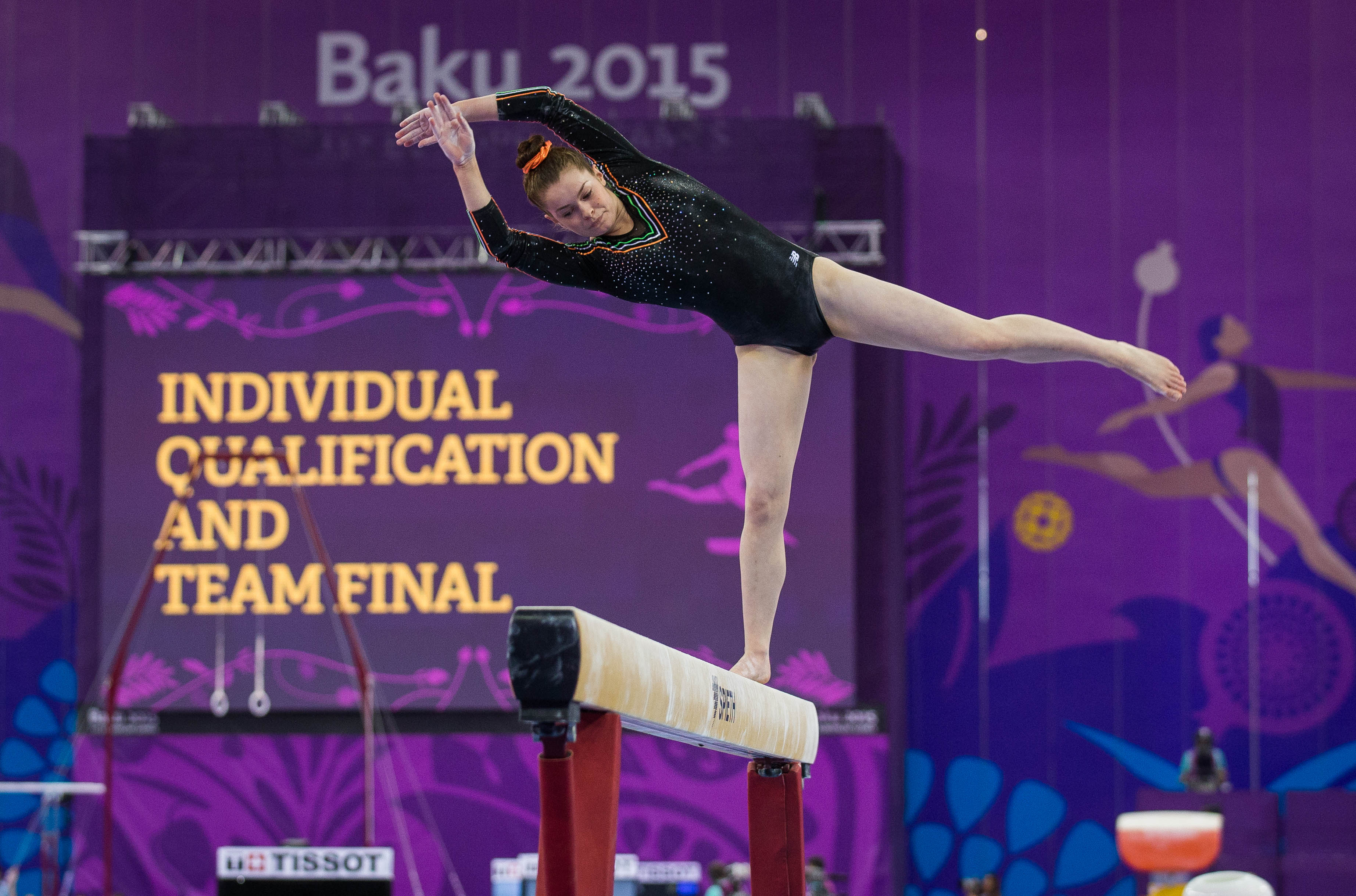 Baku 2015 European Games, National Gymnastics Arena, Baku, Azerbaijan 15/6/2015 Gymnastics Artistic Ireland's Nicole Mawhinney Mandatory Credit ©INPHO/Ryan Byrne