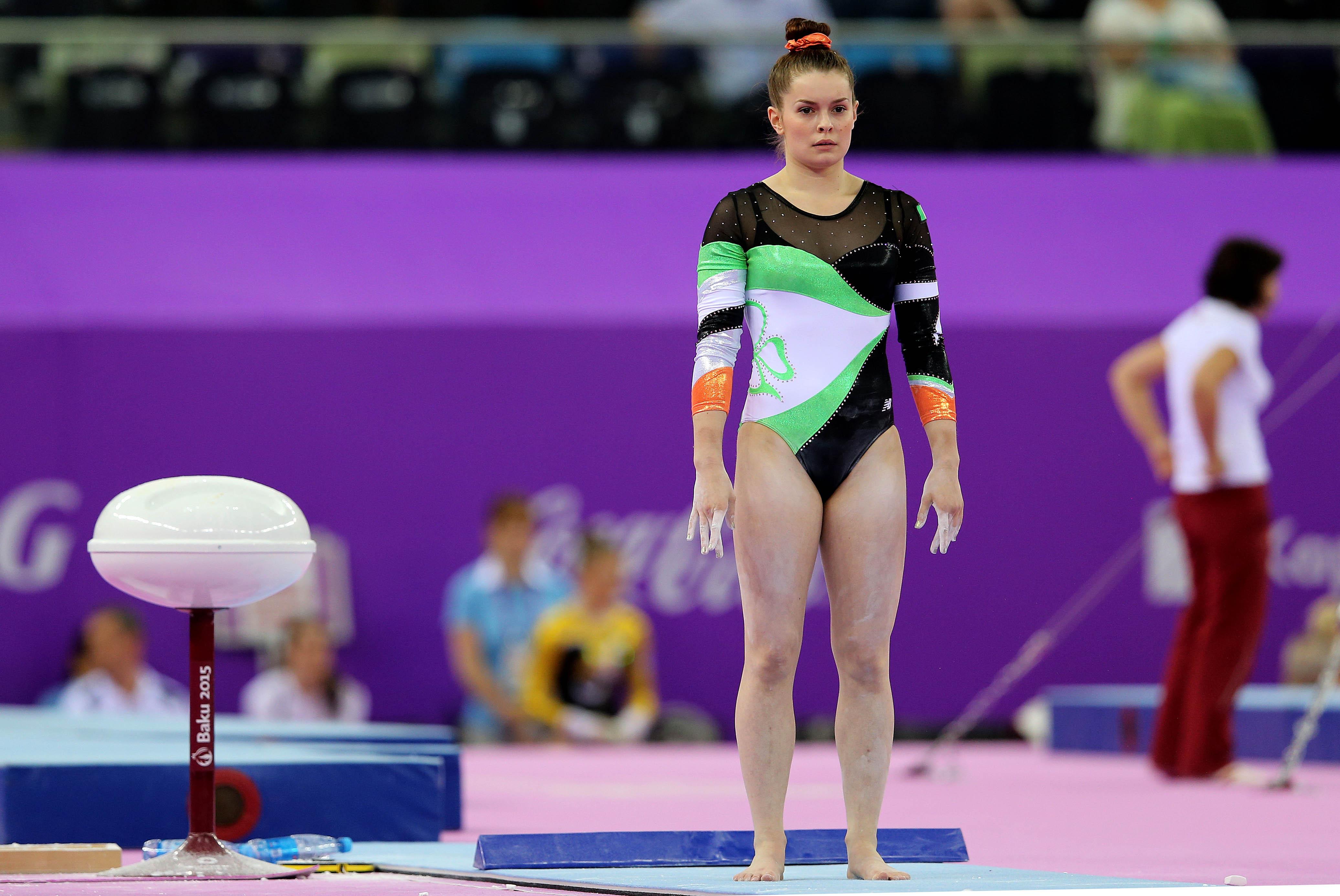 Baku 2015 European Games, Crystal Hall, Baku, Azerbaijan 14/6/2015 Gymnastics Artistic Ireland's Nicole Mawhinney Mandatory Credit ©INPHO/Ryan Byrne