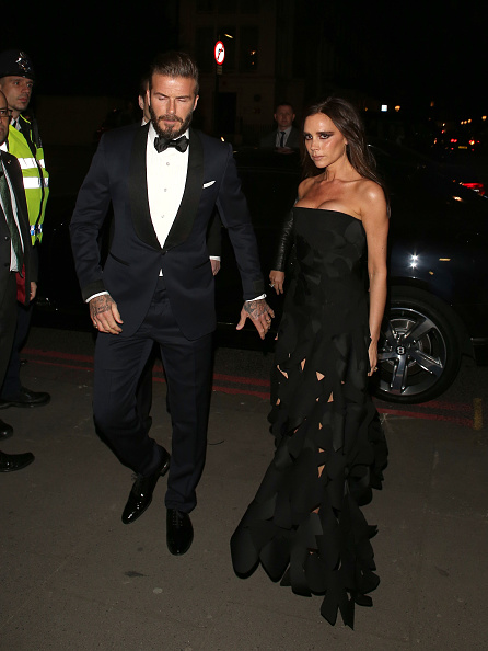 LONDON, UNITED KINGDOM - MARCH 12: David Beckham and Victoria Beckham attending the Alexander McQueen: Savage Beauty Fashion Gala at the V&A on March 12, 2015 in London, England. (Photo by Mark Robert Milan/GC Images)