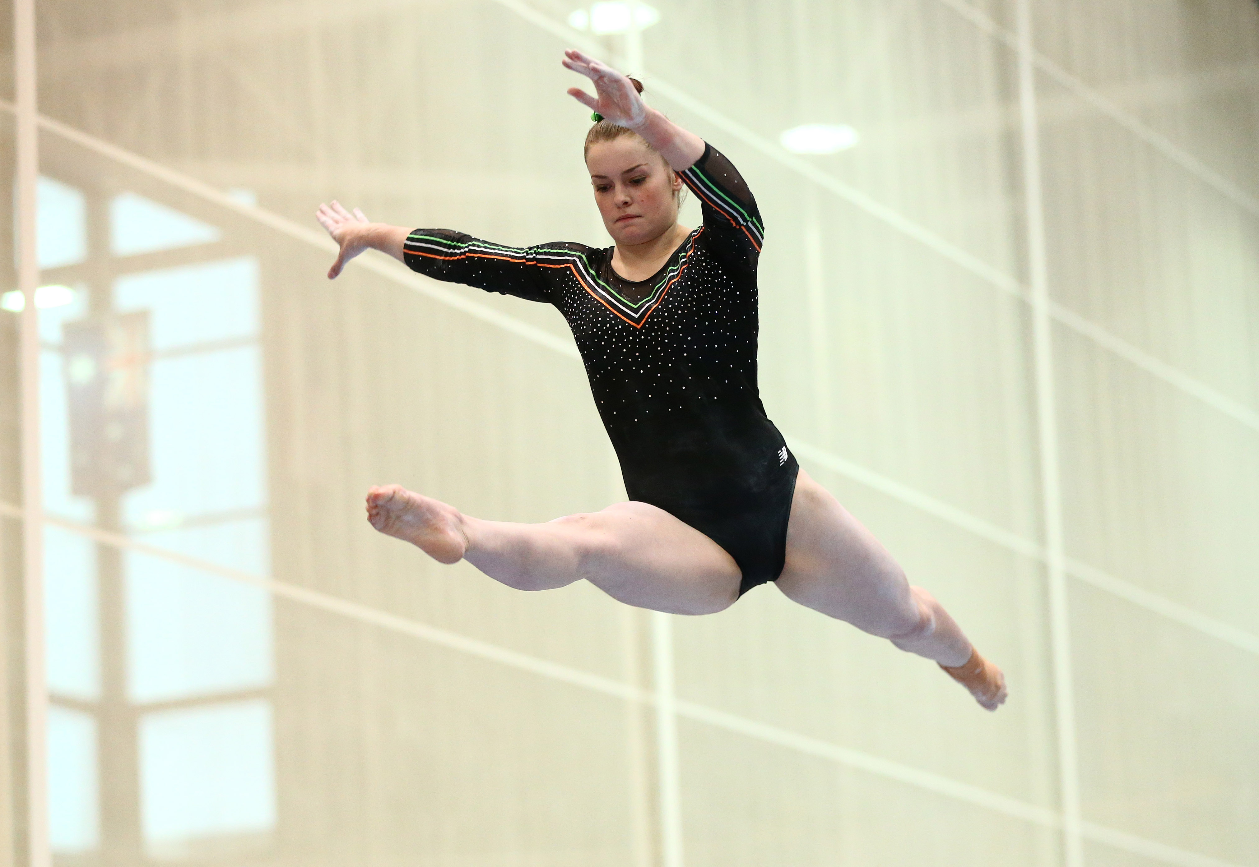 The Northern European Gymnastics Championships, University of Limerick Sports Arena, Limerick 19/9/2015 Ireland's Nicole Mawhinney on the beam exercise  Mandatory Credit ©INPHO/Cathal Noonan