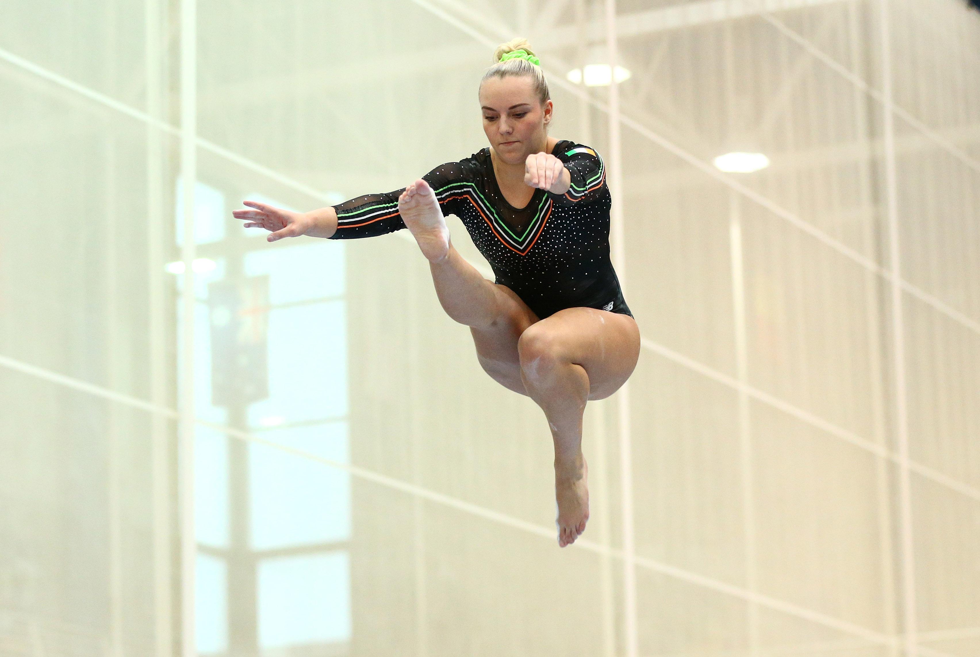 The Northern European Gymnastics Championships, University of Limerick Sports Arena, Limerick 19/9/2015 Ireland's Ellis O'Reilly on the beam exercise  Mandatory Credit ©INPHO/Cathal Noonan