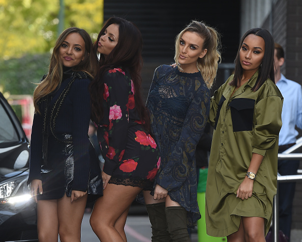 LONDON, ENGLAND - SEPTEMBER 29: Jade Thirlwall, Jesy Nelson, Perrie Edwards and Leigh-Anne Pinnock from Little Mix seen at The ITV Studios on September 29, 2015 in London, England. (Photo by Neil Mockford/Alex Huckle/GC Images)