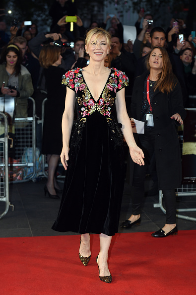 LONDON, ENGLAND - OCTOBER 17: Cate Blanchett attends the 'Truth' Fellowship Special Presentation Gala during the BFI London Film Festival at Odeon Leicester Square on October 17, 2015 in London, England. (Photo by Stuart C. Wilson/Getty Images for BFI)
